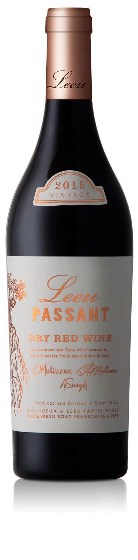 Leeu Passant Wine Bottle