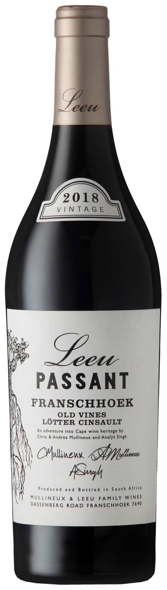 Leeu Passant Wine Bottle